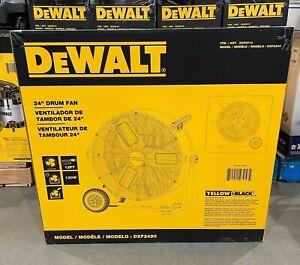 """NEW - DEWALT 24"""" Heavy Duty Floor Drum Fan - Warehouse Shop Garage Barn DXF2490"""