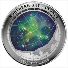 2016 Northern Sky Cygnus $5 Silver Domed coin-UNC
