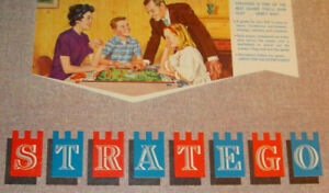 Vintage 1961 STRATEGO board game pieces BLUE/RED Replacement MB N Mint U Choose