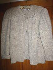 Vintage Escada Tweed Angora Blend Knit Cardigan,Size 40 ( U.S. 10 ), Ca. 1980's