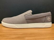 Timberland Men's Groveto Slip On Casual Shoes Medium Grey Nubuck A25PD All Size