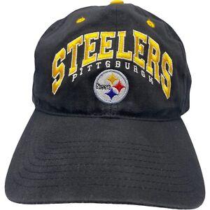Pittsburgh Steelers Black Baseball Hat Adjustable NFL Licensed Embroidered