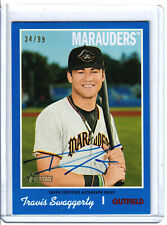 2019 Topps Heritage Travis Swaggerty Blue Border Auto /99