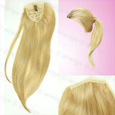 Wiwigs Blonde Mix 1 Piece Straight Clip In Ladies Ponytail Wrap Hair Extension