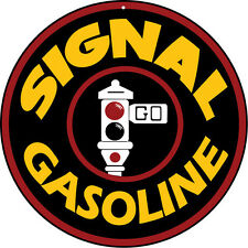 Round Signal Gas Motor Oil And Gasoline Sign with Stop Light Garage Art