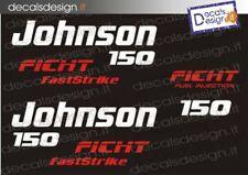 Adesivi motore marino fuoribordo Johnson 150 fast strike  gommone barca