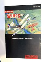 Wings 2 Aces High SNES Nintendo Instruction Manual Only - Good