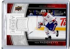 MAX PACIORETTY 2013-14 UD GAME JERSEY GAME USED  JERSEY ~ MONTREAL