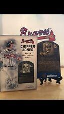 Chipper Jones Replica  Hall Of Fame Plaque SunTrust Park SGA Atlanta Braves 8-10
