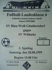 Programm 1999/00 Blau Weiß Günthersdorf - SV Wülknitz
