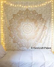 Indische Ombre Gold Mandala Baumwolle Wand Hängende Tapisserie Tagesdecken Dekor