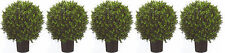 "5 ARTIFICIAL 24"" UV OUTDOOR BOXWOOD TOPIARY TREE PLANT BUSH BALL FLOWER PALM IVY"