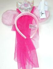 Disney Princess Aurora Headband Crown Veil Costume Halloween Theme Parks New