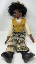 Vintage 1973 26� Eegee Willie Tyler Lester Black Ventriloquist Puppet Doll