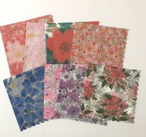 Set of 24 Beautiful Rice Paper Napkins for Decoupage Paper Crafts 8 Designs