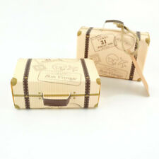50PCS Wedding Favor Mini Suitcase Gift Box Kraft Paper Candy Boxes Party Supply