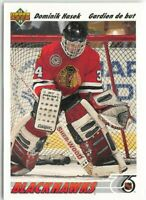 RARE LOT DOMINIK HASEK UPPER DECK FRENCH AND ENGLISH VERSION  ROOKIE CARDS