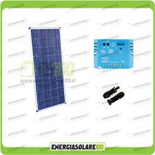 Kit pannello Solare Fotovoltaico 150W 12V Mantenimento batteria auto camper naut