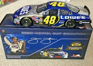 #48 JIMMIE JOHNSON LOWES 2006 CUP CHAMPION 1/24 GM DEALERS 1 OF 696 NEW