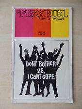 February 1973 - Edison Theatre Playbill - Don't Bother Me, I Can't Cope - Clarke