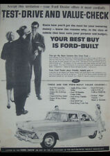 "1955 FORD CUSTOMLINE V8 AD A4 CANVAS PRINT POSTER 11.7""x8.3"""