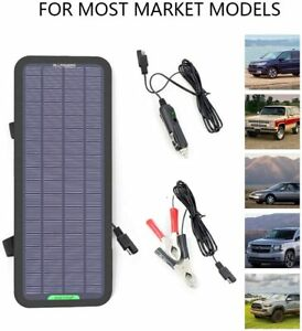 ALLPOWERS 18V 5W Portable Solar Panel Battery Charger Maintainer for Boat RV US