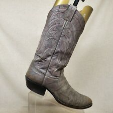 JUSTIN Marble Gray All Leather Cowboy Western Boots Mens Size 11 B Style 1401
