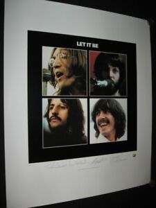 """THE BEATLES - """"LET IT BE"""" - LIMITED EDITION - PLATE SIGNED LITHOGRAPH"""