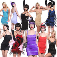 20s Sexy Charleston Flapper Gatsby Fancy Dress Party Cocktail Evening Outfit