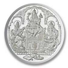 999 SILVER 10 GRAMS TRIMURTI - OM SHRI SWASTIK COIN in certicard packing