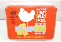 Woodstock 3 Days of Peace and Music Playing Cards 2 Decks in Collectible Tin