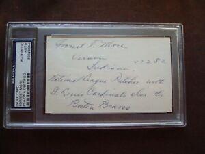 Forrest More 1909 Cardinals & Braves PSA/DNA certified autograph d.1968