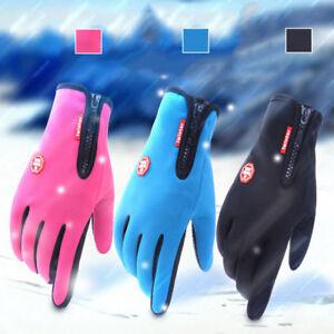 Women Men Winter Warm Waterproof Anti-slip Thermal Touch Screen Gloves UK