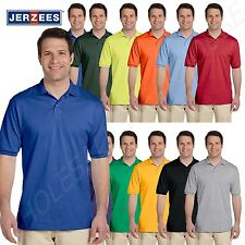 NEW Jerzees Men's 50/50 Jersey Golf Polo Shirt with SpotShield S-XL R-437