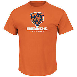 NFL T-Shirt Chicago Bears Critical Victory (VIII) Orange By Majestic Football