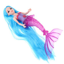 30cm Fashionable Mermaid Doll with Lights Sounds Kids Gift Toy, Blue Hair