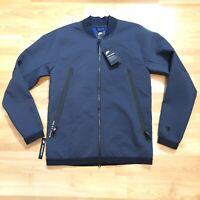 Nike Sportswear Tech Pack Jacket Bomber Blue Woven Winter Lined 928561-475 Small