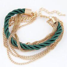 Fashion Design Multi-layer Chain Girl Women Charm Bangle Jewelry Bracelets