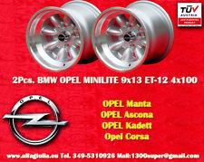2 Cerchi OPEL Minilite 9x13 ET-12 4x100 Wheels Felgen Llantas Jantes