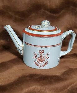 Spode Red Newburyport Teapot & Lid (Gold Trim)