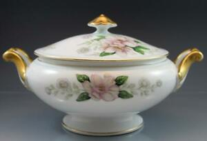 Rochelle Porcelain Round Covered Vegetable Dish By Grace China Japan