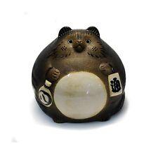 Japan Shigaraki Pottery Raccoon Dog Daifuku Tanuki SA15-10