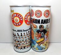 Set of IRON CITY Pittsburgh Sports 16oz Beer Cans Steelers Penguins Pirates