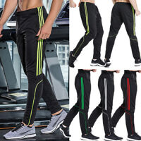 Mens Track Joggers Pants Slim Fit Sweatpants Running Sports Bottoms Active X205