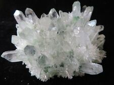 407g AA Natural Green Ghost Quartz Crystal Clusters Specimens