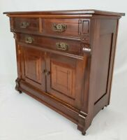 Antique Commode Wash Stand Cabinet Eastlake Victorian Mahogany 1800's