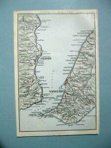 stampa antica MAPPA CARTA GEOGRAFICA STRETTO DI MESSINA REGGIO CALABRIA 1924