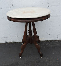Early Victorian Marble Top Side End Table 7649