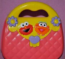 z- TOY PURSE ELMO AND FRIEND HARD PLASTIC PINK, LID OPENS GENTLY USED