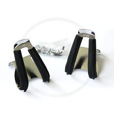 MKS Half-Clip Steel w/leather Pedalhaken | Lederüberzug schwarz